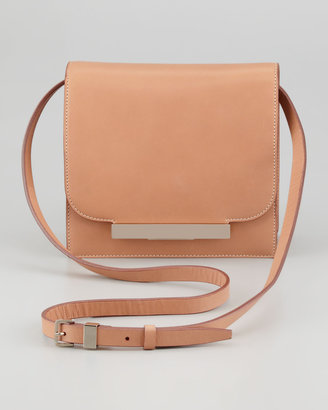The Row Classic Leather Shoulder Bag, Brown