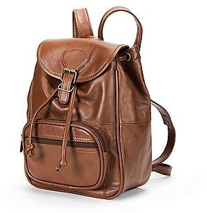 AmeriLeather Mini Leather Backpack $99 thestylecure.com