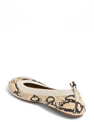Yosi Samra Snake Embossed Foldable Ballet Flat
