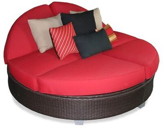 Jockey Signature Round Double Chaise Lounge Patio Heaven Cushion Color Red