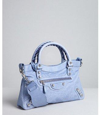 Balenciaga pale blue lambskin 'Giant First' bag