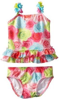 Kate Mack Baby-Girls Infant Hula Flowers Swim Print 2 Piece