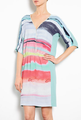 Dagmar Lana Paintbrush Short Sleeve Dress