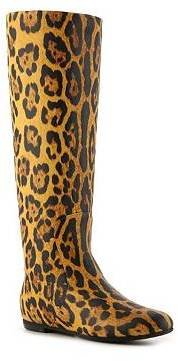 Giuseppe Zanotti Leopard Leather Flat Boot