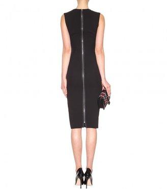 Victoria Beckham Silk and wool-crepe dress