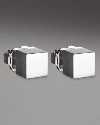 Eddie Borgo Cube Earrings, Silver