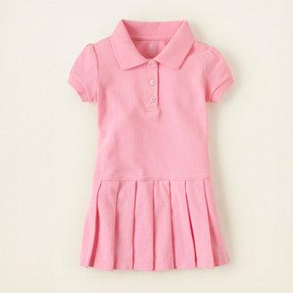 Children's Place Uniform pleated polo dress