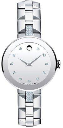 Women's Movado 'Sapphire' Diamond Mirror Dial Bracelet Watch, 28Mm $1,995 thestylecure.com
