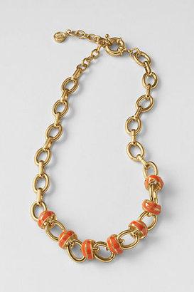 Lands' End Women's Enamel Knot Chain Necklace