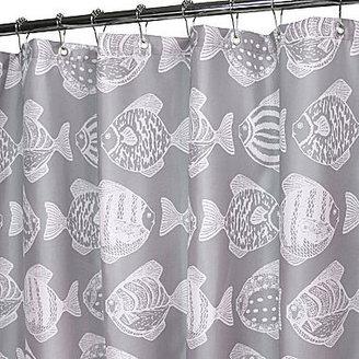B. Smith Park Fish School Shower Curtain