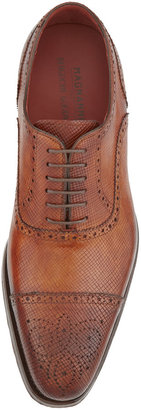 Bergdorf Goodman Hand-Antiqued Textured Leather Brogue Lace-Up
