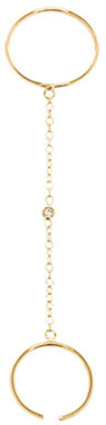 Jacquie Aiche Bezel Smooth Slave Chain Ring