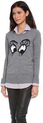 Markus Lupfer Ink Drop Intarsia Eyes Sweater