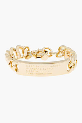 Marc by Marc Jacobs Gold Toggles & Turnlocks Standard Supply ID Bracelet