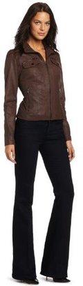 Kenneth Cole Women's Leather Scuba Jacket