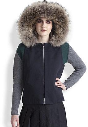 Marni Shearling & Raccoon Fur-Trimmed Vest