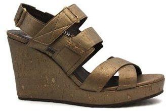 """Donald J Pliner Gretel 2"""" Bronze Leather Platform Sandal"""
