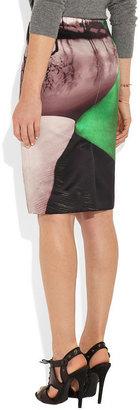 Mary Katrantzou Palma printed satin pencil skirt