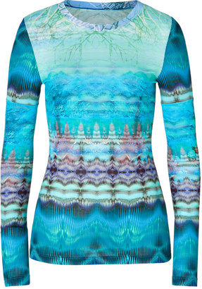 Matthew Williamson Printed Top in Periwinkle