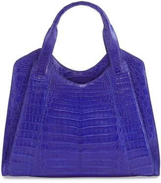 Nancy Gonzalez Crocodile Satchel Bag, Blue