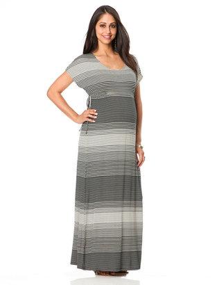 Motherhood Short Sleeve Dolman Sleeve Maternity Maxi Dress