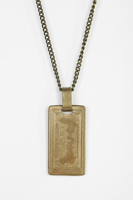 Urban Outfitters Urban Renewal Brass Bill Necklace