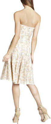 BCBGMAXAZRIA Bryleigh Strapless Sequined Lace Dress