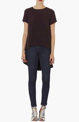 Topshop Moto 'Jamie' High Rise Skinny Jeans (Blue) (Regular, Short & Long)