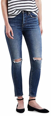 Levi's High-Waisted Ripped Knee Skinny Jeans