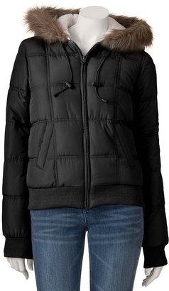 So sherpa puffer jacket