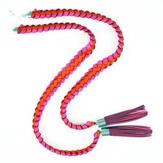 Jennifer Loiselle Odile lariat tassel necklace – pink orange