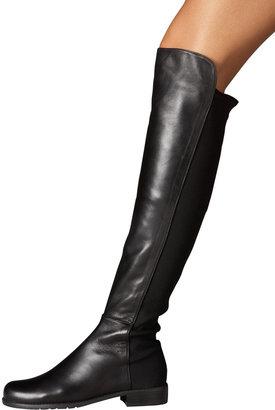 Stuart Weitzman Leather and Suede OTK Boot