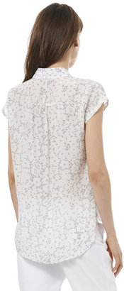 Rebecca Taylor Short Sleeve Lace Print Top