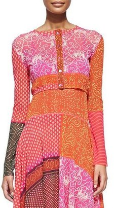 Jean Paul Gaultier Patchwork Buttoned Baby Cardigan $360 thestylecure.com