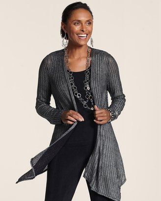Chico's Travelers Collection Mesh Tilly Jacket