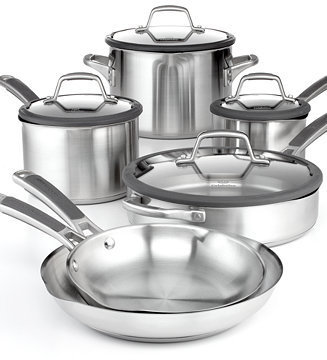 Calphalon Simply Easy System Stainless Steel 10 Piece Cookware Set