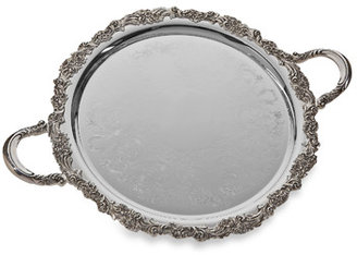 Reed & Barton Round Burgundy Tray with Handles