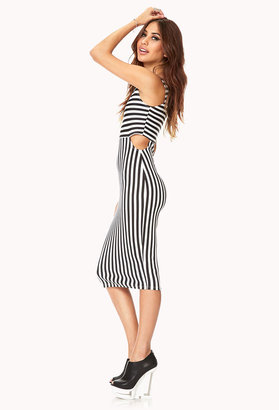 Forever 21 Shoreline Striped Midi Dress