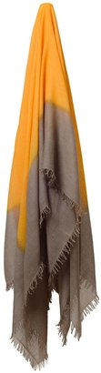 Bajra Fringed wool-silk scarf
