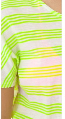 So Low SOLOW Neon Stripe Cover Up Dress