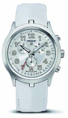 Wimbledon Hanowa Men's 16-4004.04.001.01 Chronograph Leather White Watch