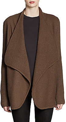 Vince Boiled Felted Wool Sweater Coat