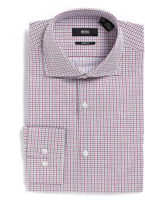 HUGO BOSS Gingham Cotton Dress Shirt