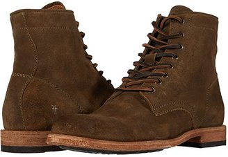 Frye Tyler Lace Up (Olive Oiled Suede) Men's Lace-up Boots