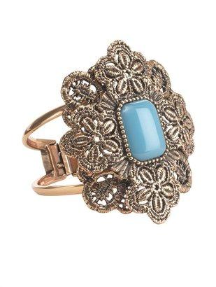 Oscar de la Renta Large Medallion Stone Bracelet