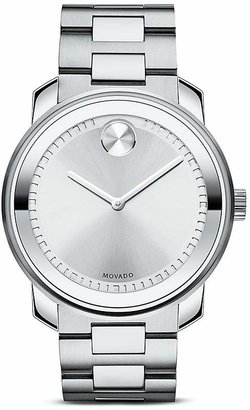 Movado BOLD Stainless Steel and Silver Tone Dial Watch, 42.5mm $695 thestylecure.com