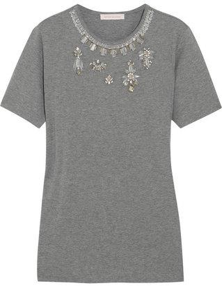 Matthew Williamson Embellished cotton-blend T-shirt