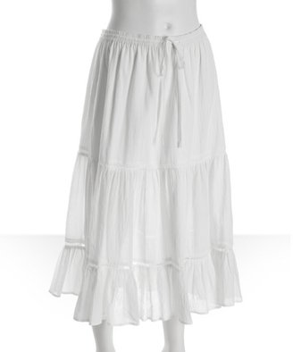 Joie white crinkle cotton peasant skirt