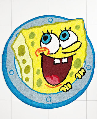 "Nickelodeon Bath Rugs, SpongeBob Set Sail 27"" Round Bath Rug"