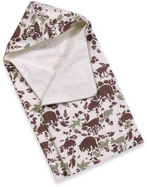 Dwell Studio™ Woodland Tumble Mocha Hooded Towel